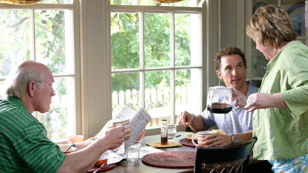 "2006's ""Failure to Launch"" features a comfy son (played by Matthew McConaughey) who doesn't see a reason to leave home. His parents, played by Terry Bradshaw and Kathy Bates, hire a professional, Sarah Jessica Parker, to lure him from the nest."