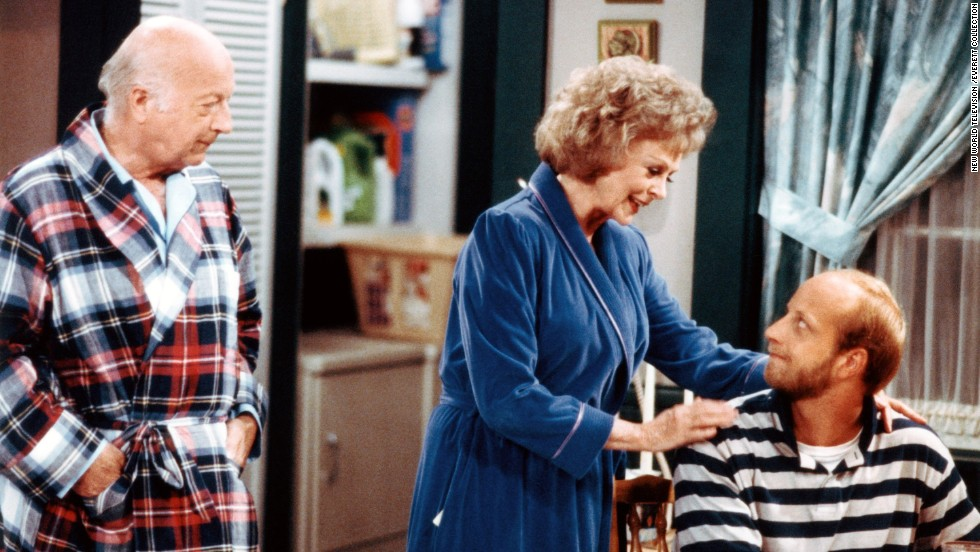 "The short-lived 1980s sitcom ""Get a Life"" starred Chris Elliott (seated), his real-life father Bob Elliott and June Lockhart. Chris Elliott's character was a 30-year-old man with a paper route who lived in an apartment above his parents' garage."