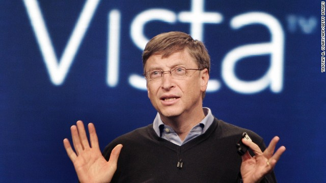New York, UNITED STATES: Microsoft founder Bill Gates speaks during the press conference at the Microsoft Windows Vista operating system launch 29 January 2007 in New York. The new Windows Vista will be available to consumers 30 January.     AFP PHOTO/Timothy A. CLARY (Photo credit should read TIMOTHY A. CLARY/AFP/Getty Images)