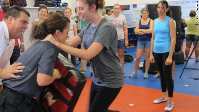 Educators learned self-defense technique in a recent training class in Lake Mary, Florida.