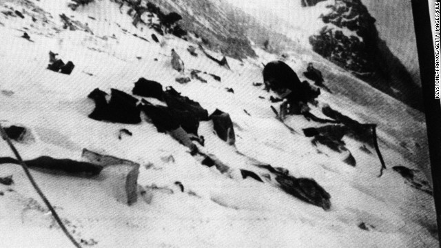 The jewels may be from the 1950 crash of an Air India flight that smashed into Mont Blanc during a storm, killing all 48 aboard.