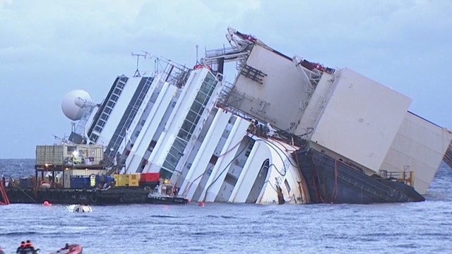 Human remains found on Costa Concordia