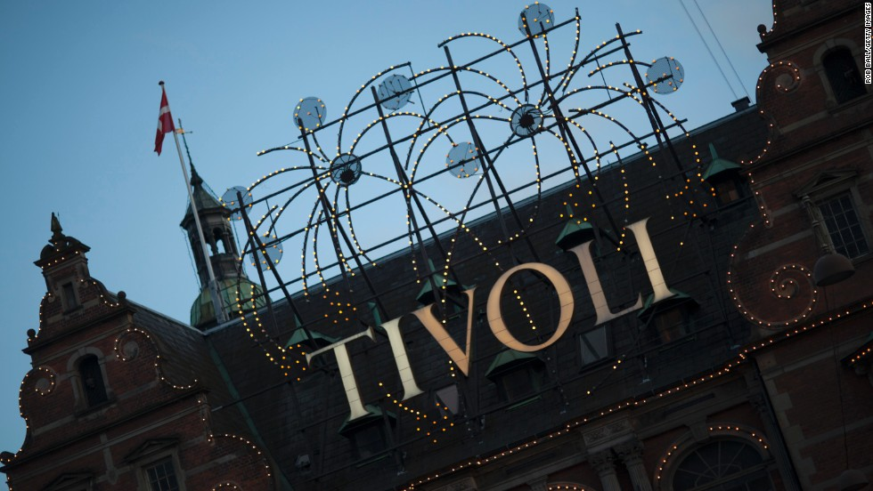 With its roller coasters, pantomime shows and amusement arcades, Tivoli, the world's second-oldest amusement park, is a sometimes tacky place that should cheer up almost anyone. Whether Copenhagen's famed miserabilist Søren Kierkegaard ever went is unknown.