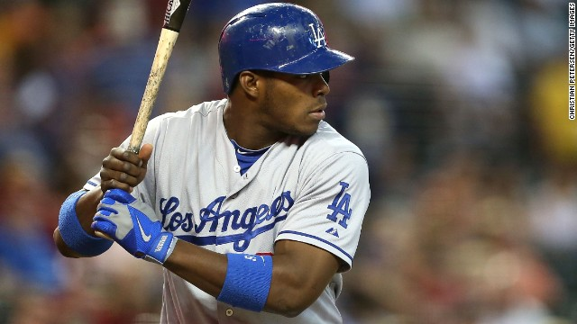 Los Angeles Dodgers' star Yasiel Puig defected from Cuba in 2012.
