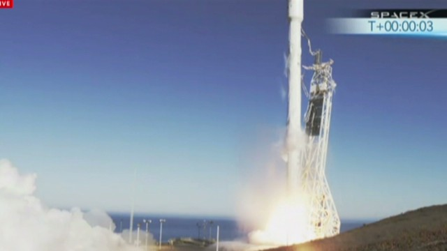 Watch rocket launch into space