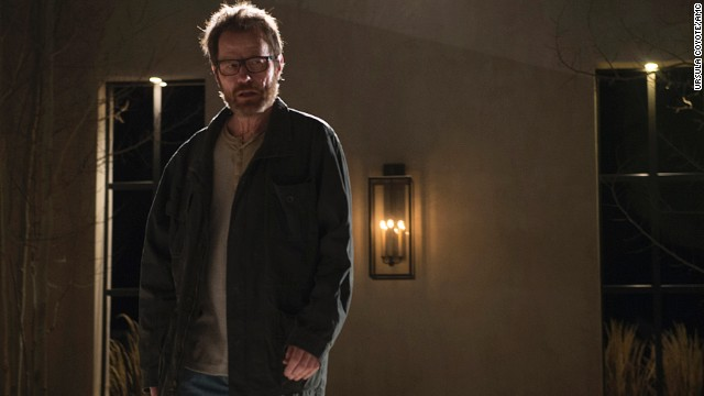 Walter White (played by Bryan Cranston) confronts Elliott  and Gretchen Schwartz in the series final episode.