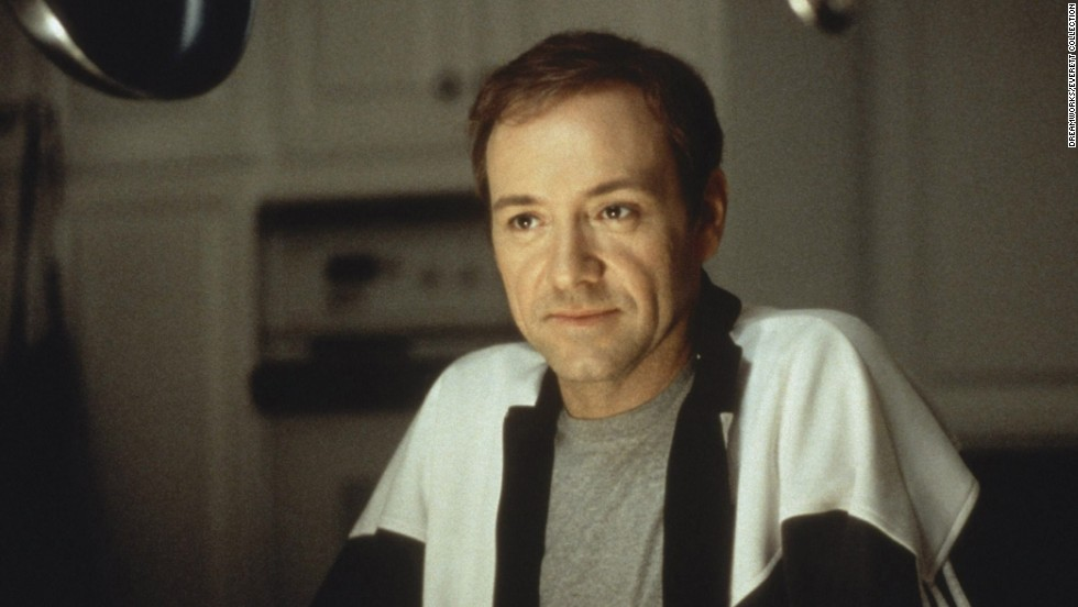"The death of Kevin Spacey's character, Lester Burnham, in the 1999 movie ""American Beauty"" is accompanied by poignant words at the end of the film."