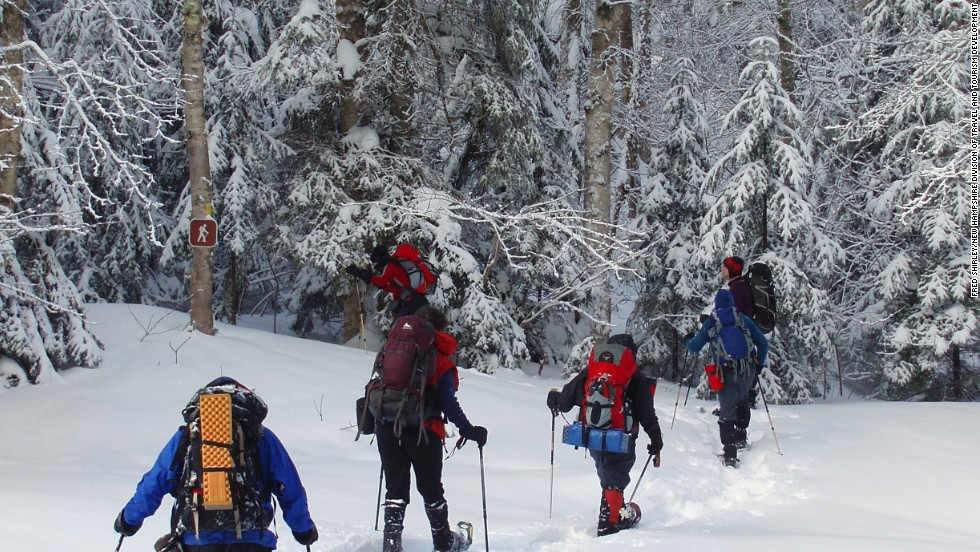 Outdoor enthusiasts love how long the snow lasts at New Hampshire's White Mountains. But travelers are advised to take safety precautions because the weather can change in an instant.