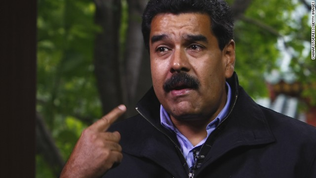 "Venezuelan President Nicolas Maduro says of the diplomats ""Yankee go home. Enough abuses already."""
