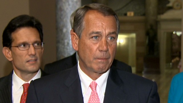 Boehner blames Senate for shutdown