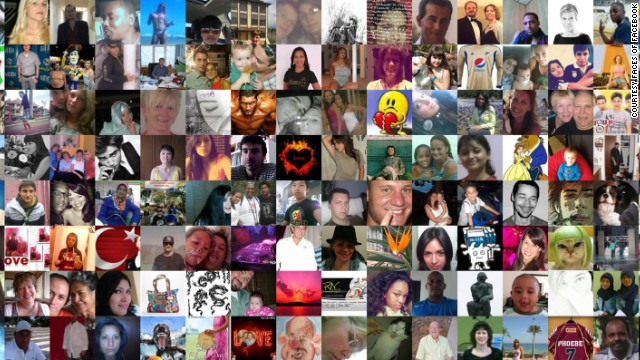 A new interactive site lets you scroll through Facebook profile pics in chronological order.