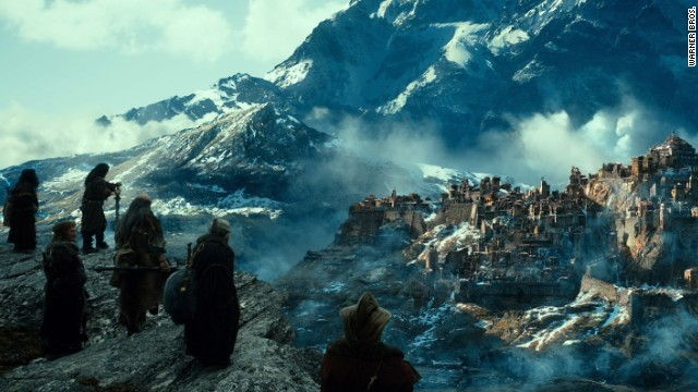 """The Hobbit: The Desolation of Smaug"" held off new release ""Anchorman 2"" at the box office."