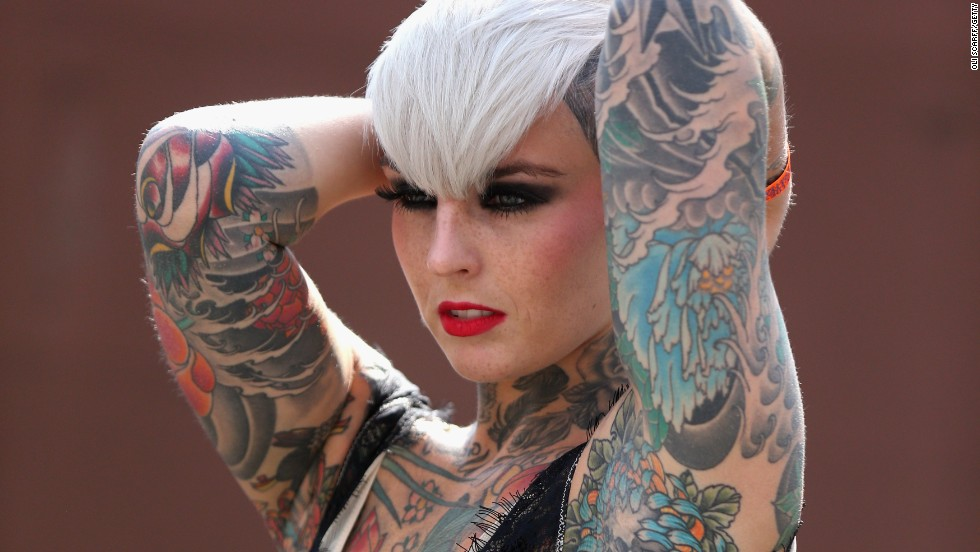 Retro themes were back in fashion at the London International Tattoo Convention over the weekend.