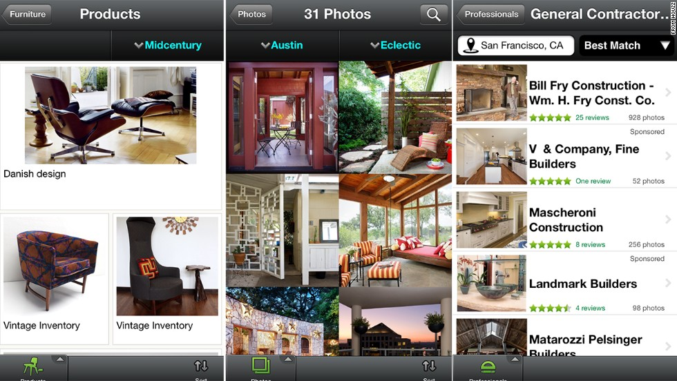 Home Improvement App Houzz Has A Library Of More Than 2 Million Images Of  Homes,