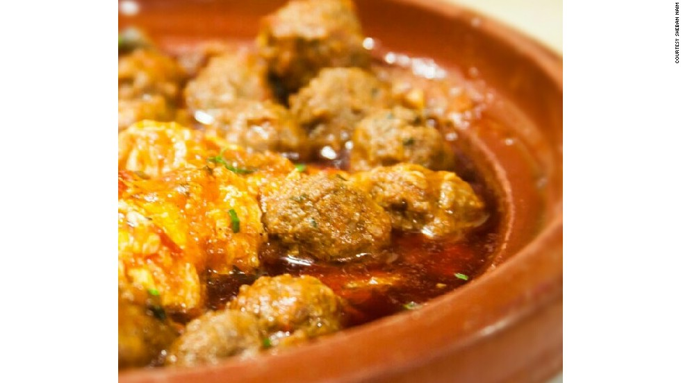 Meatball tagine from an Old Dubai neighborhood rich with Moroccan treats.