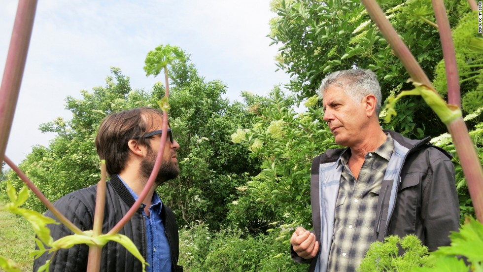 "Bourdain travels to Copenhagen, Denmark, to visit renowned chef Rene Redzepi. ""By the way, it would be helpful to point out this show is not about Denmark. It's not about Copenhagen. I'm here for one man,"" Bourdain says of Redzepi, who is the chef of Noma."