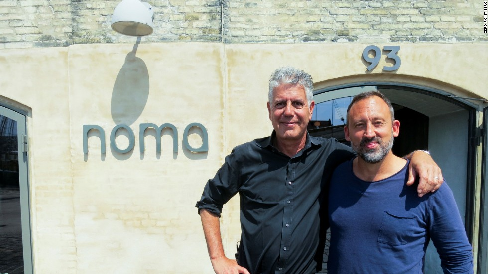 Bourdain dines at Noma with Alessandro Porcelli, the founder and director of Cook it Raw, an annual gathering of the world's most progressive chefs.