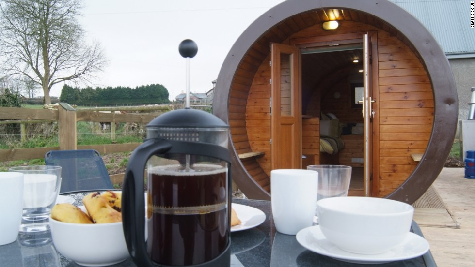 Lord of the Rings fans will get into these Hobbit-inspired pods, which offer stunning views over the Tamar Valley. Inside, there's a double bed and two single beds.