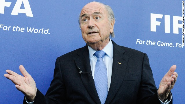 President of FIFA, Joseph Blatter, gives a press conference following a meeting of the FIFA task force with Paletestinian and Israelian football federations in Zurich, on September 3, 2013. AFP PHOTO / SEBASTIEN BOZON (Photo credit should read SEBASTIEN BOZON/AFP/Getty Images