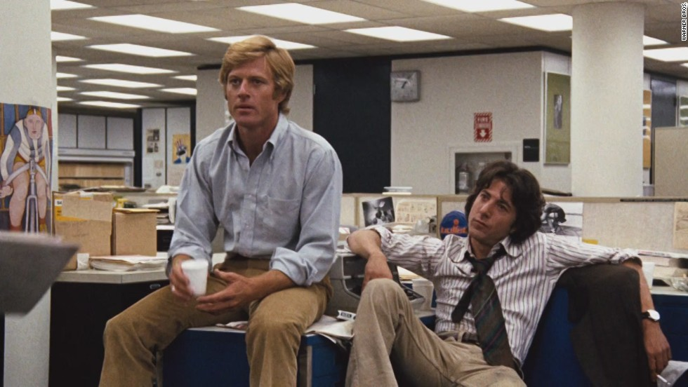 "With all this attention on the White House, a must-see would be Robert Redford and Dustin Hoffman as journalists Bob Woodward and Carl Bernstein in the 1976 film, ""All the President's Men."""