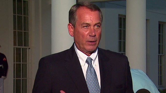 Boehner: Democrats will not negotiate