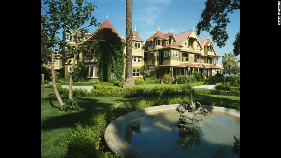 Sarah Winchester built the Winchester Mystery House in San Jose, California, in 1919, hoping to ward off the evil spirits.
