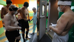 A cryotherapy chamber in the Olympic Sports Centre in Spala, near the Polish capital Warsaw