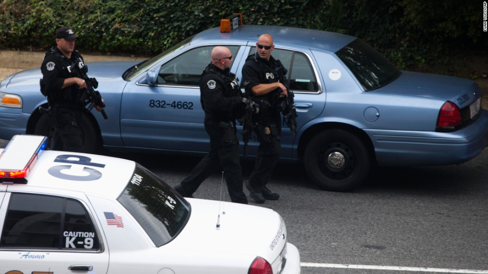 Capitol Police respond to reports of shots fired on Capitol Hill.