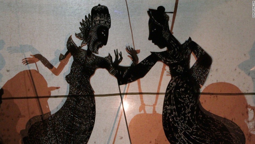 "Sidia and Australian puppeteer Peter Wilson are co-directors of a show that combines shadow puppetry with live action performance called ""Bali Agung"" at the Bali Safari and Marine Park."