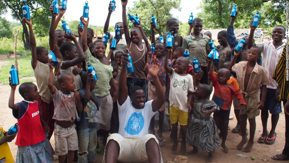 GiveMeTap is planning to go back to Ghana in December, where construction will begin on four to five new water projects. Broni-Mensah celebrates at the Kpakpalamuni Village, Wa in the Upper West Region of Ghana.