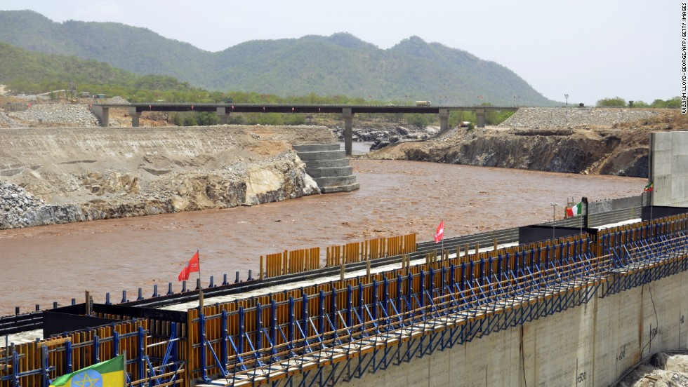 The Grand Renaissance Dam is under construction on the Blue Nile River in Ethiopia. It is claimed it will generate 6,000 MW of energy when completed.
