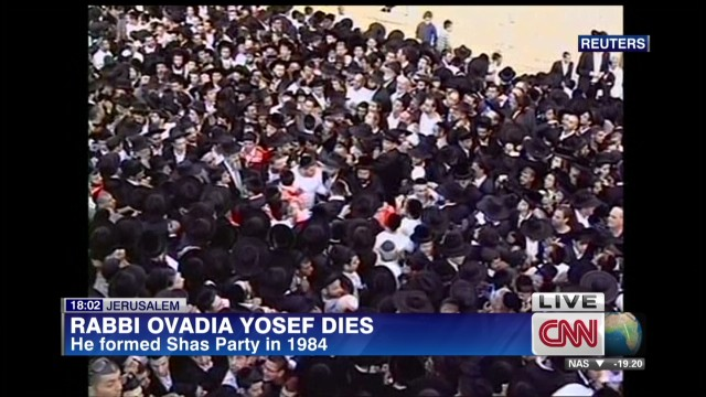Israel mourns prominent rabbi's death