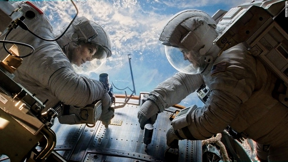 "<strong>No. 3:</strong> The only lingering question we have for Sandra Bullock and ""Gravity's"" director Alfonso Cuarón is where this honor -- being the third-favorite movie of 2013 for CNN's readers -- will rank when those inevitable awards start pouring in."