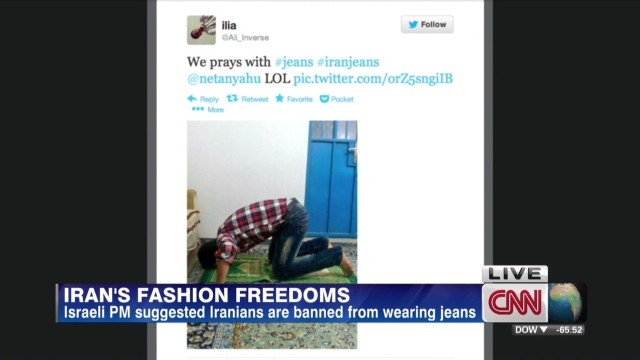 Netanyahu makes #IranJeans trend