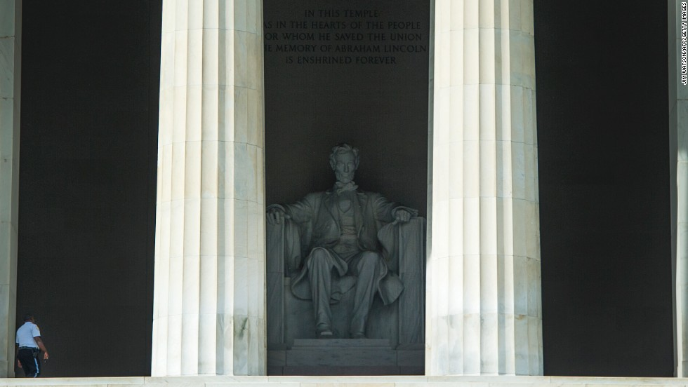 The Lincoln Memorial in Washington came in fifth place for visitation.