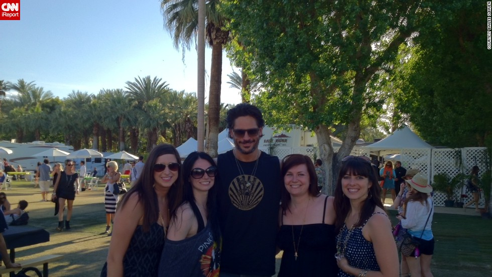 Bailee O'Brien (second from right) never dreamed her job as a sponsorship coordinator for State Farm Insurance would allow her to travel the country for some of the best music festivals. At the festival she likes best, Coachella, she met one of her favorite actors, Joe Manganiello.