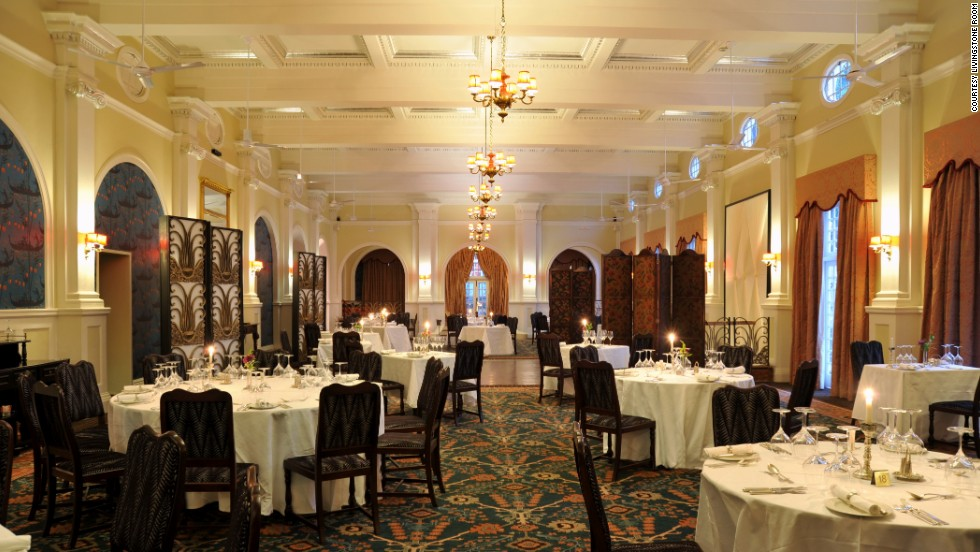 "<strong>7.</strong> <a href=""http://www.victoriafallshotel.co/Dining.html"" target=""_blank"">Livingstone Room at Victoria Falls Hotel </a>(Victoria Falls, Zimbabwe)"