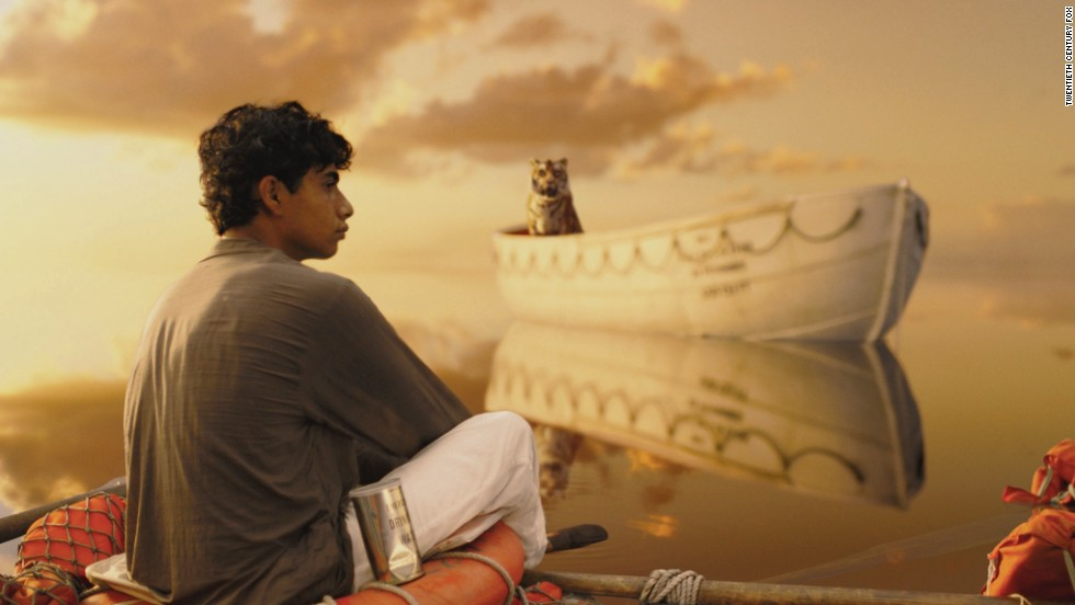 "In<strong> ""Life of Pi""</strong> (2012), a teenager traveling on a ship with his family (and their zoo animals) ends up in a lifeboat when the ship sinks during a storm. Among the lifeboat's other residents: a tiger named Richard Parker. It makes for an uneasy relationship as they drift across the ocean.<em> Lesson:</em> Leave the animals at home, or send for them separately."