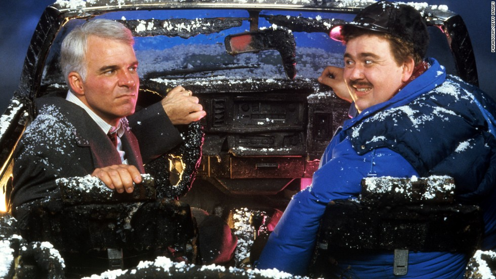 "Thanksgiving is a brutal time to travel, as Steve Martin and John Candy learn in 1987's <strong>""Planes, Trains and Automobiles."" </strong>The unlikely pair find their plane diverted, stay in a crummy hotel room and manage to set fire to a car, but they do make it home. <em>Lesson:</em> Don't curse at rental car clerks."