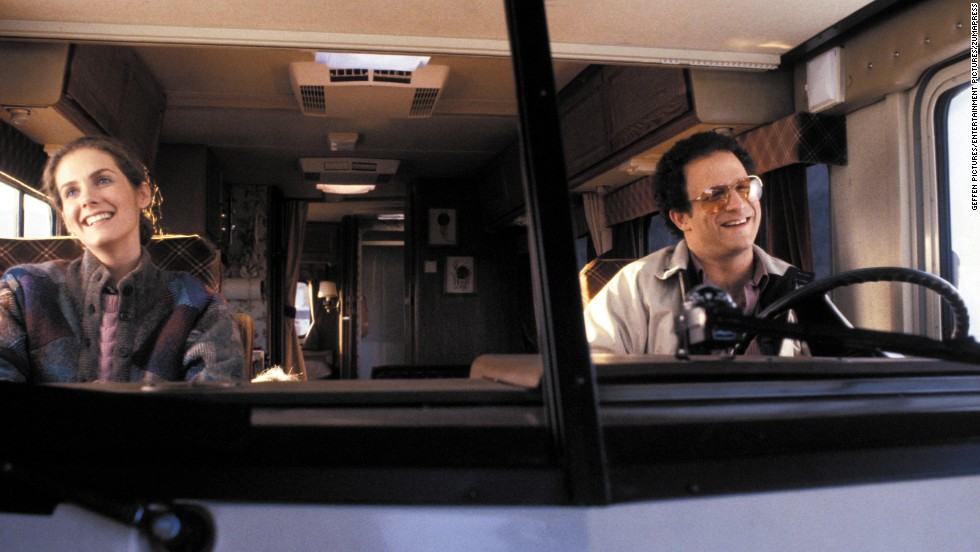 "<strong>""Lost in America""</strong> (1985) is Albert Brooks' acerbic valentine to the great open road, '80s style. Instead of roughing it like the cyclists in ""Easy Rider,"" Brooks and his wife (Julie Hagerty) buy an RV and expect to rely on their dependable nest egg, until gambling in Vegas changes their plans. <em>Lesson:</em> Las Vegas casinos do not give refunds."