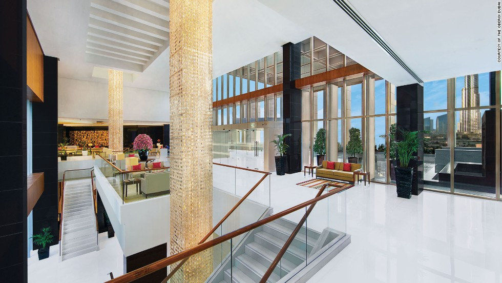 The lobby of this 252-room tower overlooks the Burj Khalifa, currently the world's tallest building.