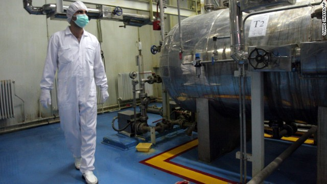 (File) A technician walks through the Uranium Conversion Facility outside the city of Isfahan, Iran, in February 3, 2007.