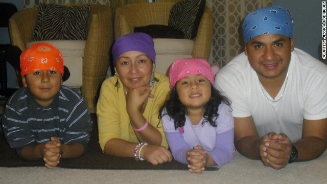 Jessica Rodriguez, second from left, with her son Gregory, daughter Caroline, and husband Guillermo Ramirez.