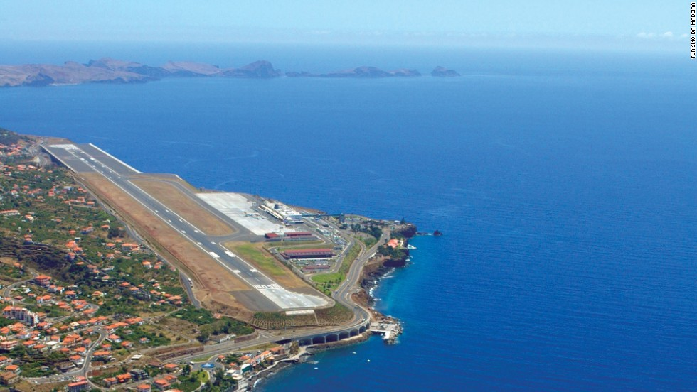Landing at this tiny strip clinging to the coast of Madeira will have you reaching for the fortified wine.