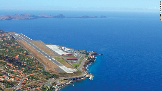 Atlantic turbulence and a runway extended on stilts make for a touchy touchdown in Madeira.