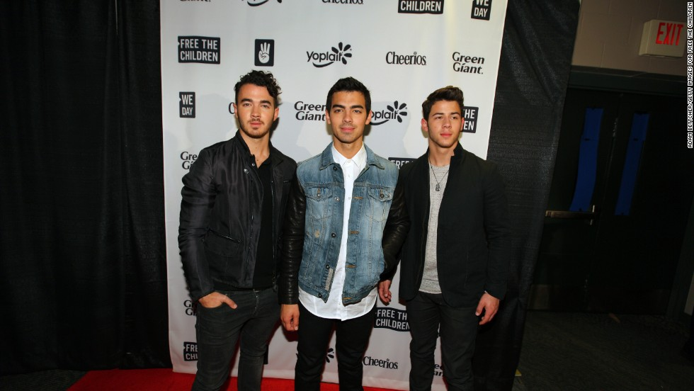 The Jonas Brothers arrive at the We Day Minnesota event in St. Paul, Minnesota on October 8.
