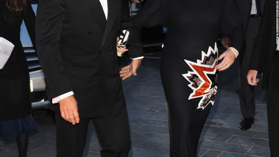 "Tom Hanks and Rita Wilson arrive at the European premiere of ""Captain Phillips"" on October 9."