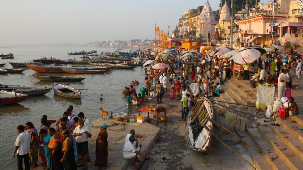 "The world's most populated river basin, ""Mother Ganga"" certainly isn't the world's cleanest or prettiest waterway, yet it remains India's most sacred river for Hindus. Witnessing pilgrims converge at the bathing and funeral ghats in the holy city of Varanasi may be one of the most profound travel experiences you'll ever have, but it's safer to swim much further upstream, closer to the Ganges' Himalayan source."