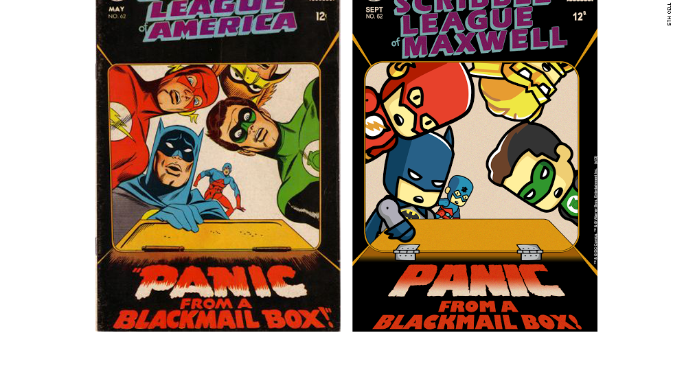 Behind this classic cover, Flash and the Justice League of America get embroiled in a blackmail plot.