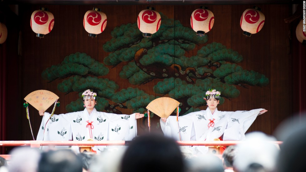 Sanja Matsuri (shrine maidens perform here) is considered one of the wildest and largest of Tokyo's three great Shinto festivals.